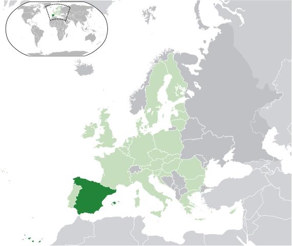 Karta Nordostra Spanien.Kartor Over Spanien Om Spanien
